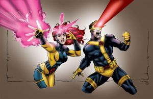 X-Men Scott and Jean by MarcBourcier
