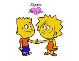 Bart and Lisa by Cookie-Lovey