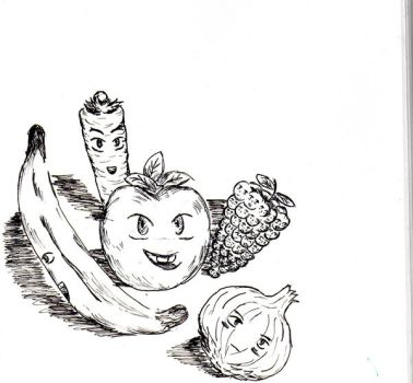 fruit and veg smile by The-guy-who-draws