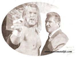 The Game and the WWE Chairman by eazy101