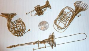 Wire Brass Instruments by doganie