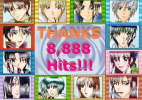 THANKS 8,888 HITS by sapphireyuriko
