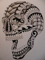 cane sugar skull by bishop808