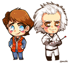 BTTF: Doc and Marty by Demachic