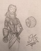 Tali sketch by DELIRIOUS-QUARIAN