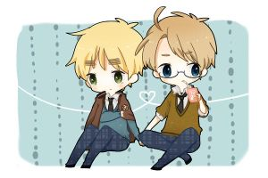 Fanfic: Hetalia: Alfred/Arthur - Love in a Bottle by AvalonMelody