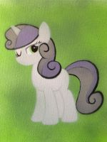Grown Up Sweetie Belle Stencil by SCARFI5H