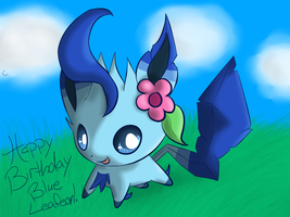 BG: BlueLeafeon by Chaomaster1