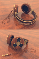 Steampunk Headphones by 0111100001000100