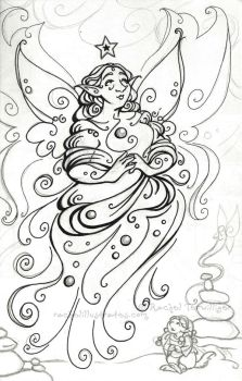 WIP - The Star Queen by rachelillustrates