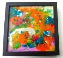 Melted Rainbow (Melted Crayon on Glass) by AtomicColor