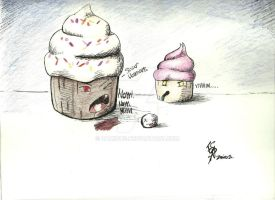 Cupcakes Eating People by Zamious
