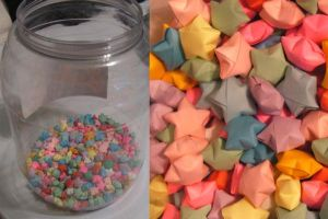 Origami Lucky Stars by ladyserenity2002