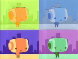 color theory project-robopapel by galvo