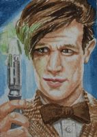 Dr. Who and the screwdriver by waughtercolors