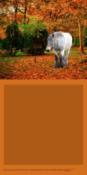 Draft Horse Fall Forest by LiveLoveLax21