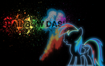 Rainbow Splash - Neon Wallpaper by hopeabandoner