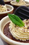 Chocolate Pots with mint by Mrs-Yum-Yums