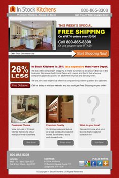 InStock Kitchens Email Layout by johnhswork
