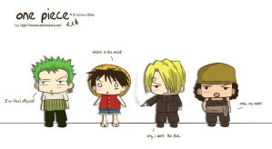 Strange... One piece Chibis by ChabeEscalant