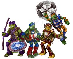 TMNT: Avengers by mannycartoon
