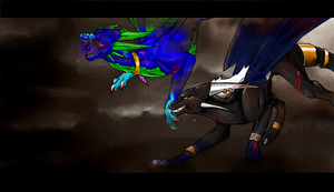 Iscribble:Lets fight by cynder-dragon-spyro