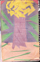 Tree Collage Sketchbook Cover by muffla