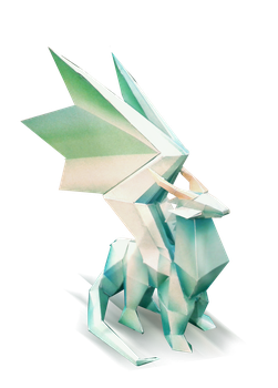 Crystal Dragon  Statue Finished Photo by Kna