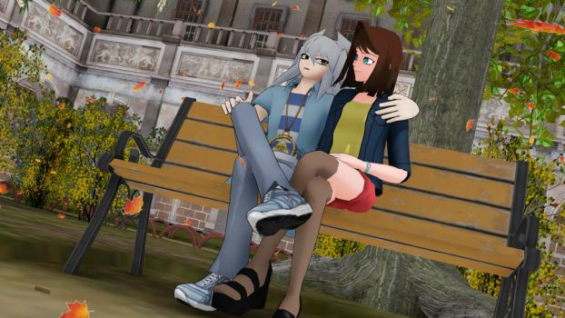 Sitting at the park.2 by Gold59