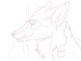 Random furry fox portrait 2 by El-Ricado