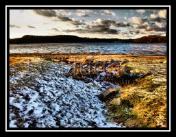 Winter in Marsh Creek HDR by lehPhotography