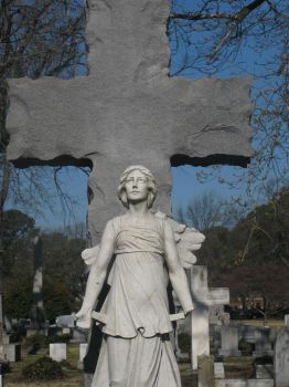 Woman with the cross by The---Storyteller
