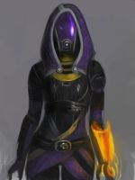Tali'Zorah speed paint by Raikoh-illust