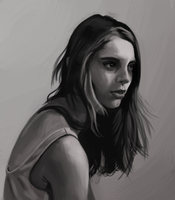 A portrait of a girl from tumbler-WIP by UsayFudo