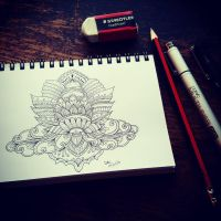 Lotus Drawing by WelshPixie