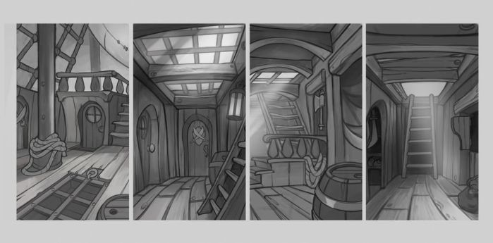 Nordeus Pirates Environment Sketches 01 by atomhawk
