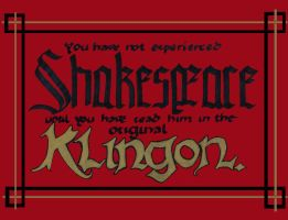 Klingon Quote - Wallpaper by elhalfling