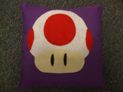 Toad Pillow by alexiamorana