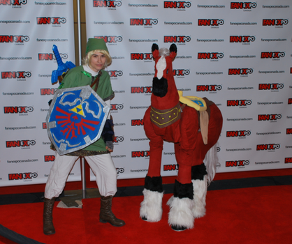 Link and Epona by Alastarlover