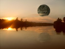 forest moon sunset by ssg-McGary