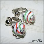 Christmas Clip On Earrings by 1337-Art
