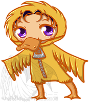Chibi in a Duck Suit by kuroitenshi13