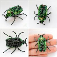 Green beetle by Rrkra