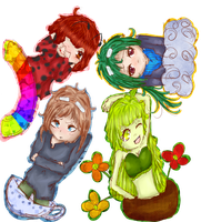 .:*Contest entry- Four Friends*:. by Lumi-Moon