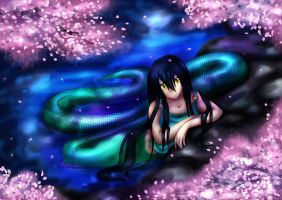 .:snake and sakura:. by rayray18