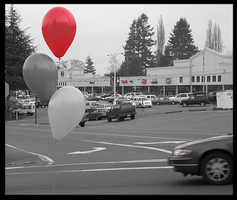 Photography- Red Balloon by les-ailes