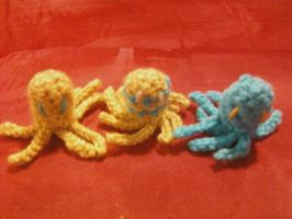 More mini amigurumi octopuses! by Amigurumi-Lover