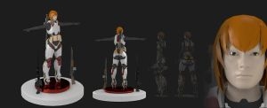 Character - Anna in 3D, Version 1.2 by longgi