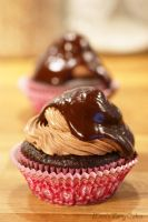 Chocolate Raspberry Cupcakes by Cailleanne