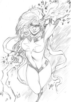 Miss Marvel Sketch by CaioMarcus-ART